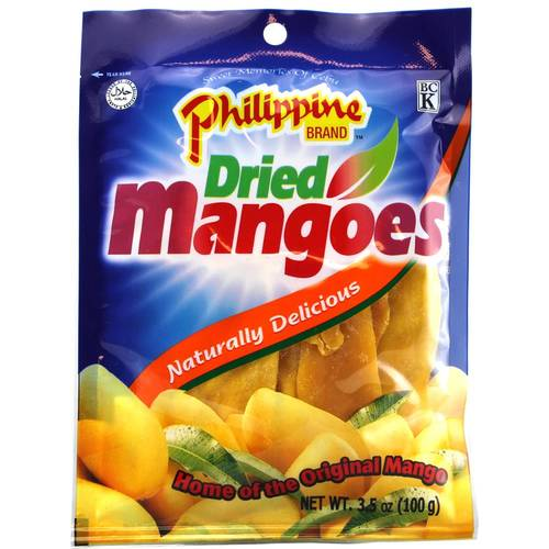 Philippine Brand Dried Mangoes Trocken 100 g - EAN 4809012887397