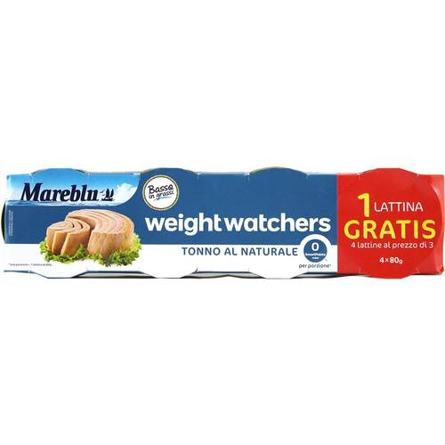 Mareblu Weight Watchers Tonna al Naturale Thunfisch 208 g...