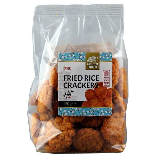 Golden Turtle Brand Fried Reis Cracker Hot 150 g - EAN...
