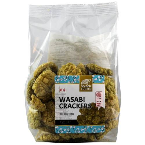 Golden Turtle Brand Wasabi Crackers Reis Cracker 125 g - EAN 8717703617092
