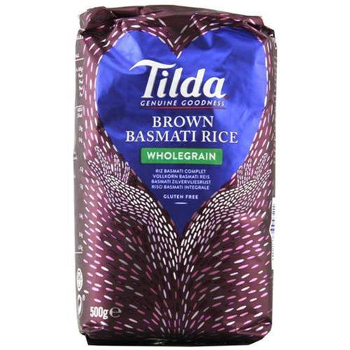 Tilda Brown Basmati Rice Wholegrain 500 g - EAN...