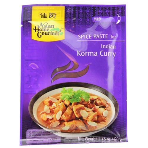 Asian Home Gourmet Würzpaste Indian Korma Curry 50 g -...