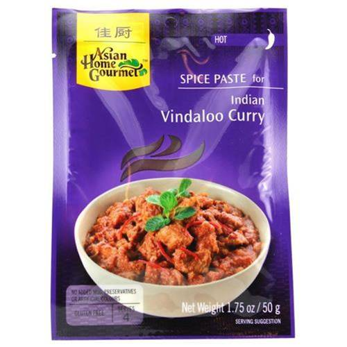 Asian Home Gourmet Würzpaste Indian Vindaloo Curry 50 g -...