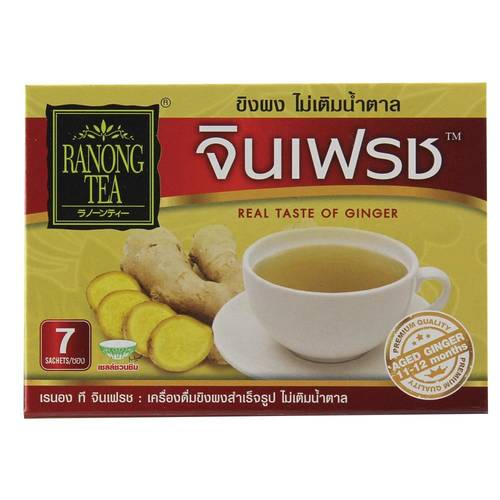Ranong Tea Ginfresh Instant Ginger Drink No Sugar Added...