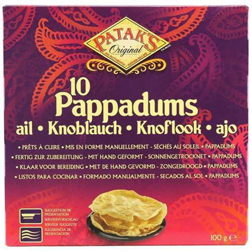 Patak's 10 Pappadums Knoblauch 100 g - EAN 069276981024