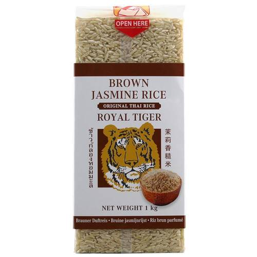 Royal Tiger Brown Jasmine Rice 1 kg - EAN 8717703634266